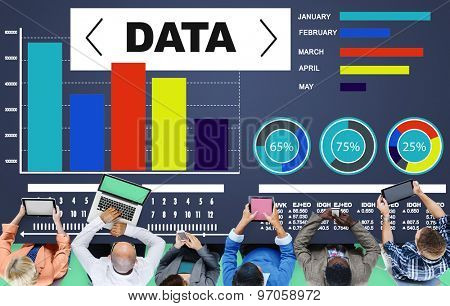 Data Analytics Chart Performance Pattern Statistics Information Concept