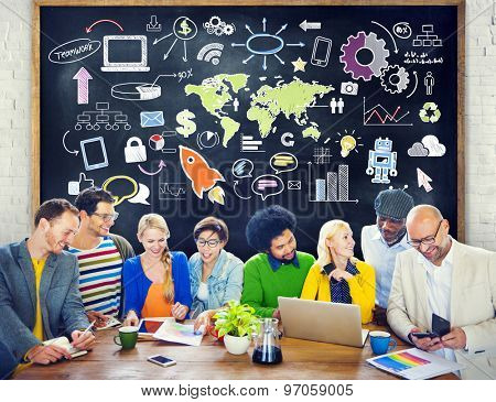 Global Business World Organization Market Commercial Concept