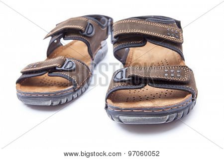 New men's fashion sandal isolated on white background