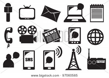 Tools And Equipment For Media And Communication Vector Icon Set