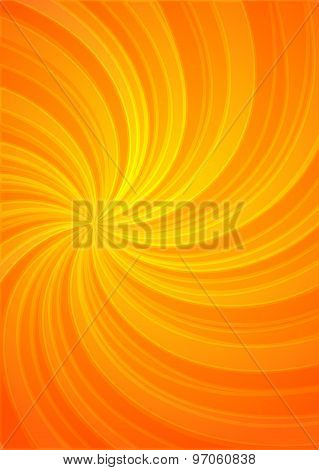 Yellow Spiral Twist Proportion A4 Sheet Page Background