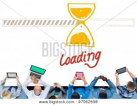 Loading Data Information Transfer Digital Internet Concept