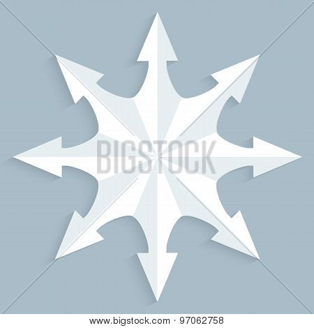 Compass-needle-effect-cut-paper