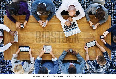 Communication Connection Digital Devices Technology Concept