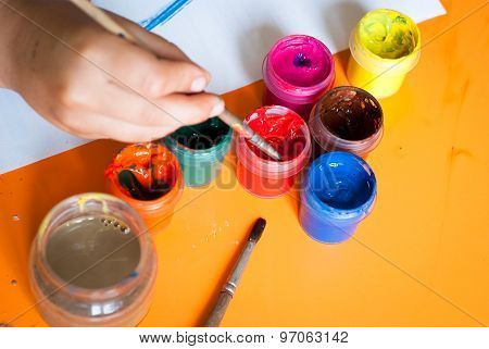 Several Cans Of Paint