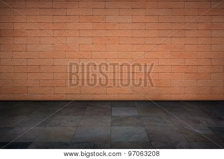 The Red Brick Walls And Marble Floors.