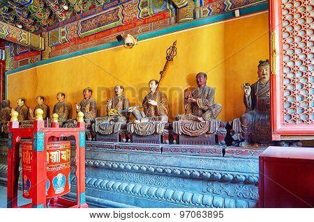 Interior View Of Yonghegong Lama Temple. Beijing.