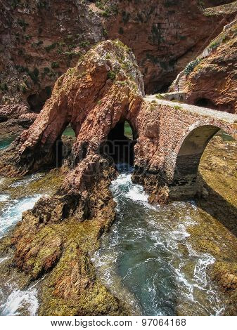 Bridge To Fort  St John Baptist In Berlenga Island, Portugal