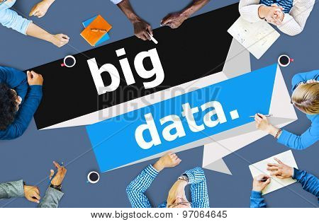 Big Data Network Connecting Storage Computing Internet Concept
