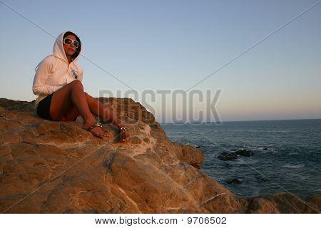 Ocean Cliff Sunset