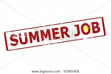 Rubber stamp with text summer job inside vector illustration