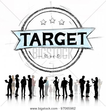 Target Aim Mission Business Banner Concept