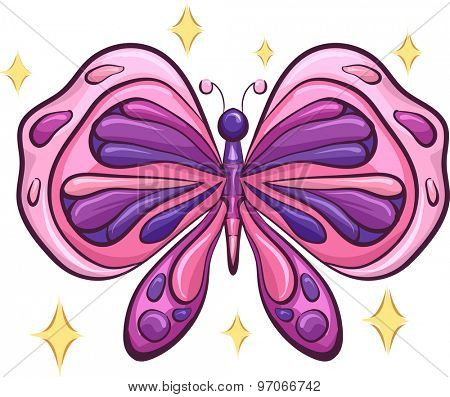 Colorful Illustration of a Majestic Butterfly with its Wings Spread Wide