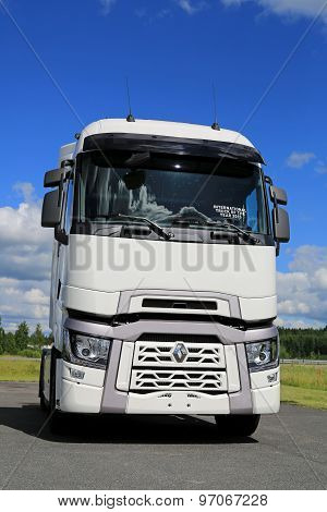 White Renault Trucks T With High Sleeper Cab