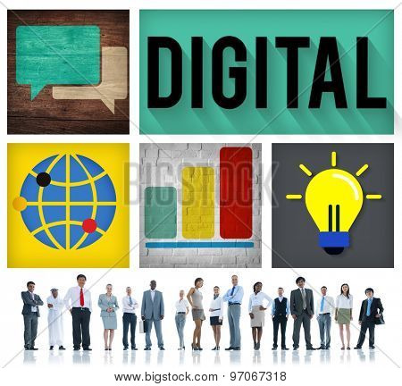 Digital Media Online Technology Innovation Concept