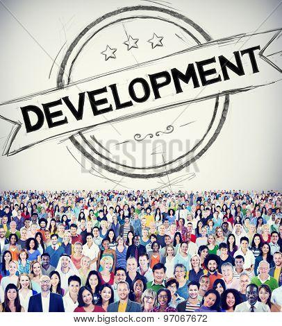 Development Progress Growth Banner Concept