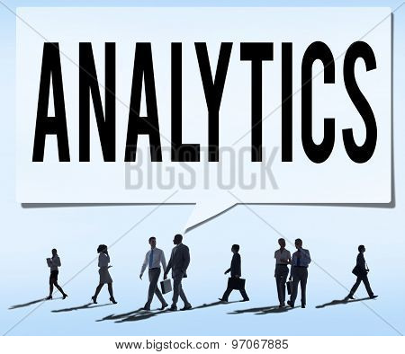 Analytics Evaluation Consideration Planning Strategy Concept