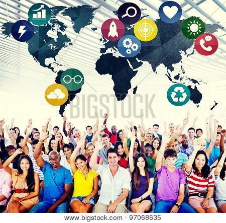 Global Communications Social Networking Connection Concept