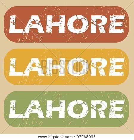 Vintage Lahore Stamp Set