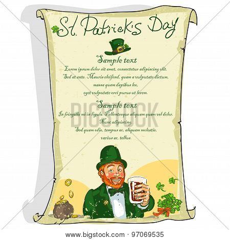 St. Patricks Day poster with sample text