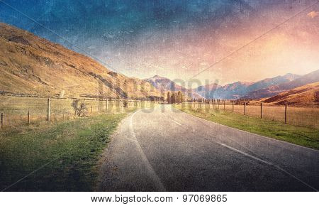 Natural beautiful landscape of mountains and forest