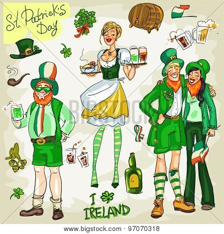 St. Patricks Day - hand drawn collection.