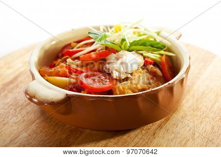 Stewed Fillet of Fish with Vegetables
