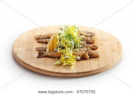 Deep Fried Fish with Lemon and Parsley