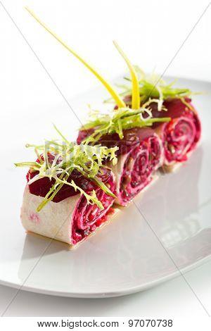 Beetroot Salad in Pita Wrap