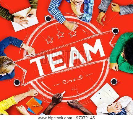 Team Teamwork Collaboration Banner Concept