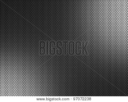 3d background of perforated metal