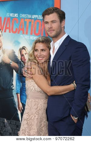 LOS ANGELES - JUL 27:  Elsa Pataky, Chris Hemsworth at the