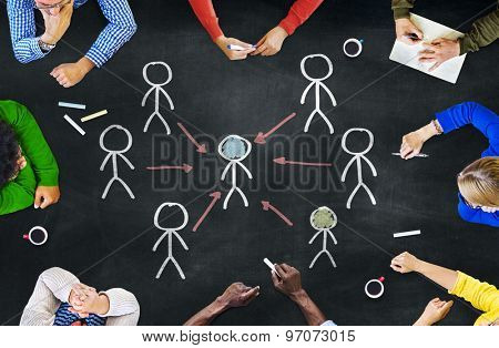 People Working and Leadership Concept