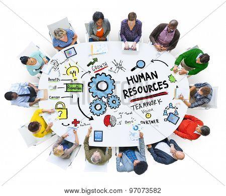 Human Resources Employment Job Teamwork People Meeting Concept