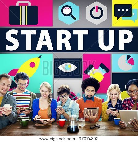 Start Up Business New Launch Technology Concept