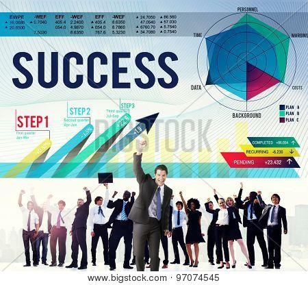 Success Successful Goal Achievement Complete Concept
