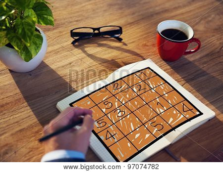 Sudoku Puzzle Solving Problem Solution Leisure Concept