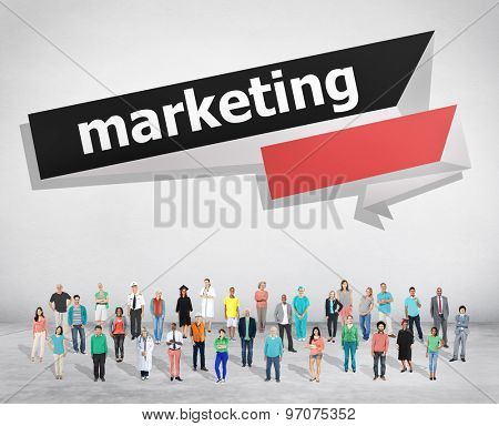 Marketing Commercial Media Consumer Customer Concept