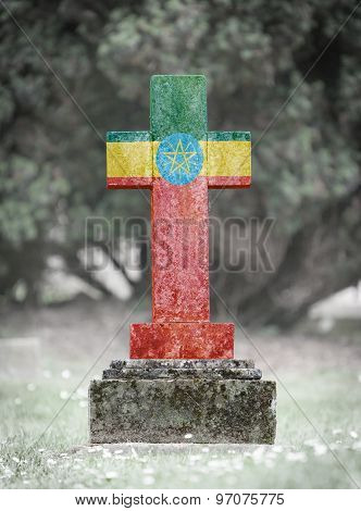 Gravestone In The Cemetery - Ethiopia