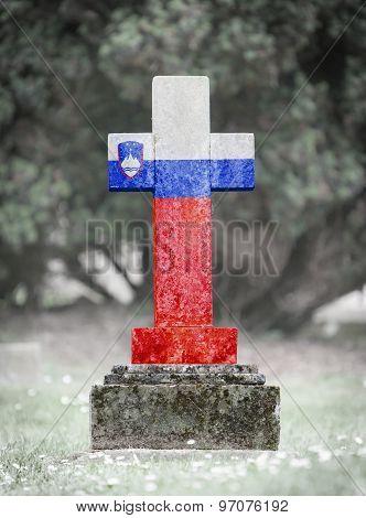 Gravestone In The Cemetery - Slovenia