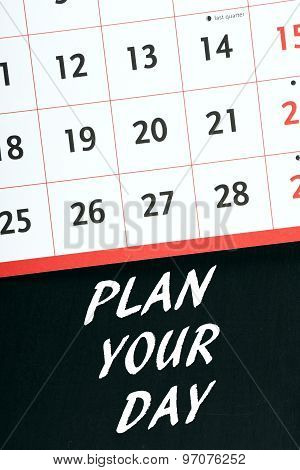 Plan Your Day Calendar