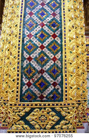 Decorative patterns in Wat Phra Kaew, Emerald Buddha Temple
