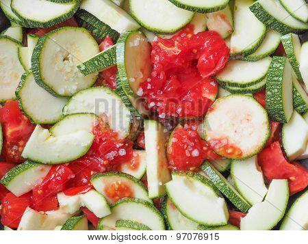 Zucchini With Tomato