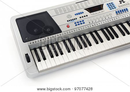 Synthesizer isolated on white