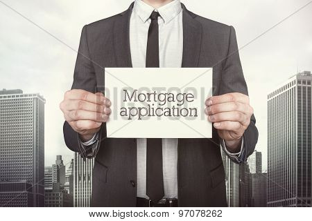 Mortgage application on paper