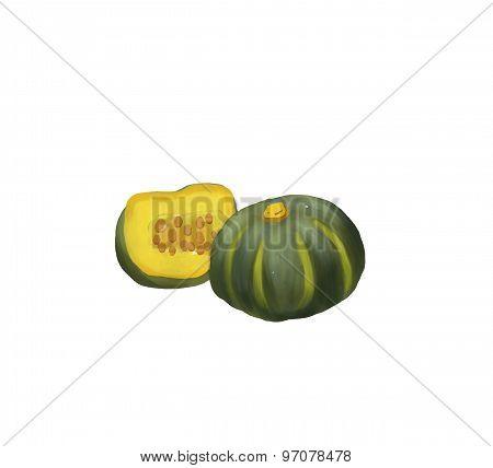 green pumbkin illustration