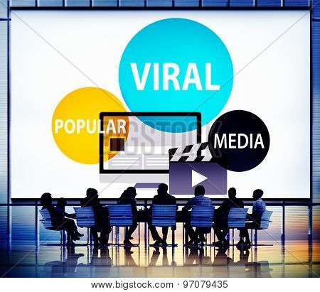 Viral Global Communications Internet Technology Concept