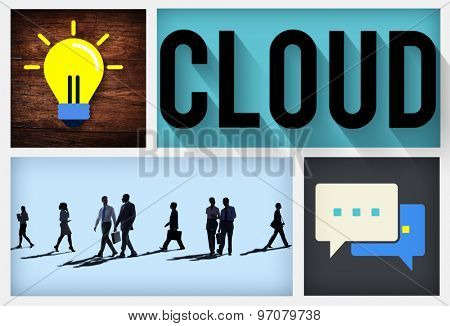Cloud Computing Data Storage Sharing Concept