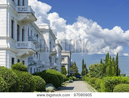 Livadia Palace summer retreat of the last Russian tsar, Nicholas II, Crimea, Russia.  Built in 1911