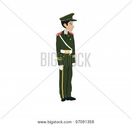 Chinese guard man